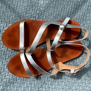Lucky Brand Strappy Silver Sandals